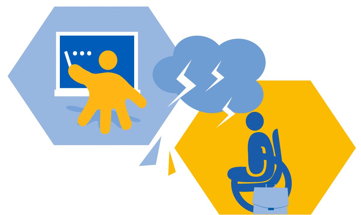 Illustration sur les difficultés pour trouver un établissement scolaire pour un enfant portant un handicap physique