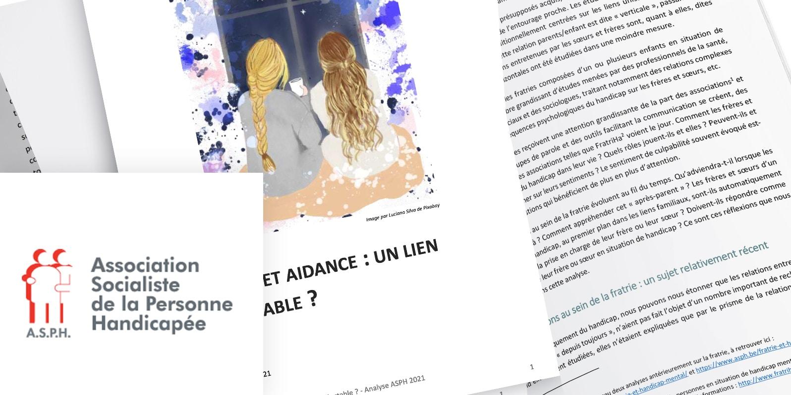 Fratrie et aidance: un lien inéluctable?-AnalyseASPH 20211FRATRIE ET AIDANCE:UN LIEN INÉLUCTABLE?